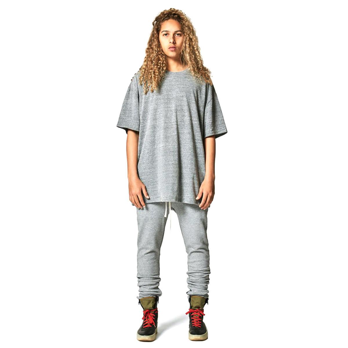 フィアオブゴッド Tシャツ 正規品 FEAR OF GOD 半袖Tシャツ  FOG - FEAR OF GOD ESSENTIALS TRI-BLEND BOXY T-SHIRT GRAY AA5B B1C C1D D1E E02F
