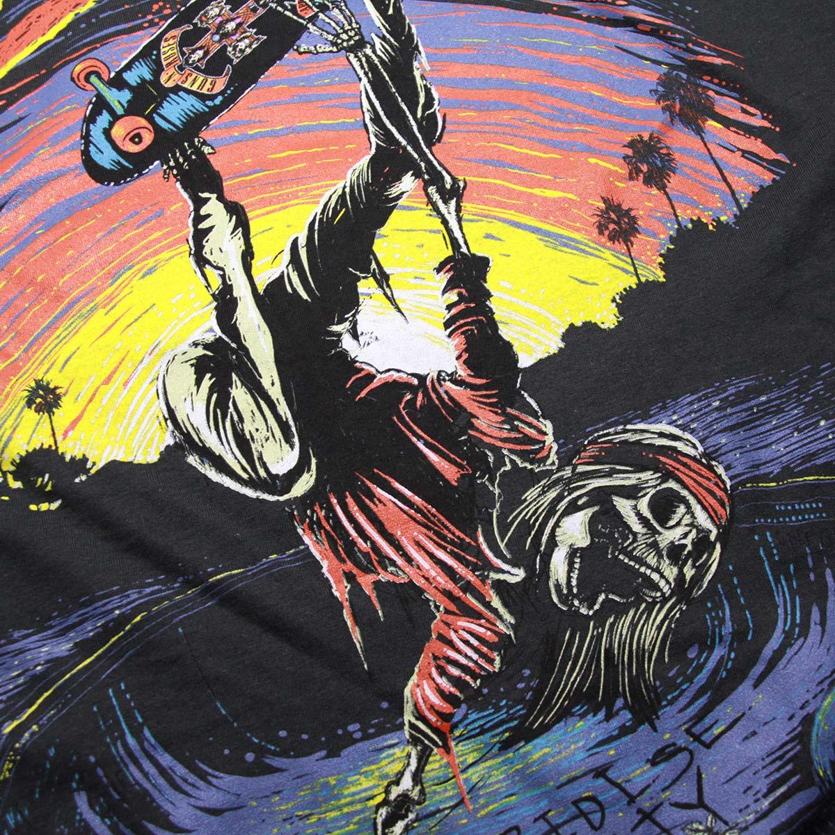 ミュージックティ バンドTシャツ メンズ 正規品 MUSIC TEE ロックTシャツ 半袖Tシャツ ガンズ・アンド・ローゼズ GUNS N' ROSES SKATE MUSIC TEE AB5B B1C C1D D1E E13F