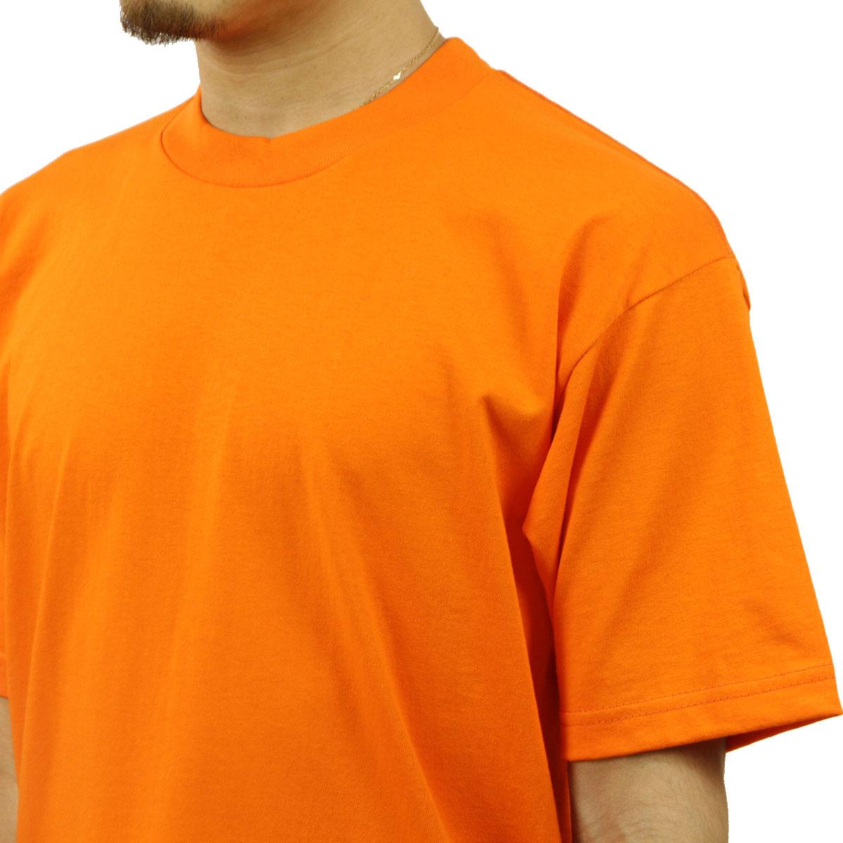 プロクラブ Tシャツ メンズ 正規販売店 PROCLUB 半袖Tシャツ クルーネックTシャツ HEAVY WEIGHT COTTON SHORT SLEEVE CREW NECK T-SHIRT ORANGE TANGERINE #101 AB6B B1C C1D D1E E10F