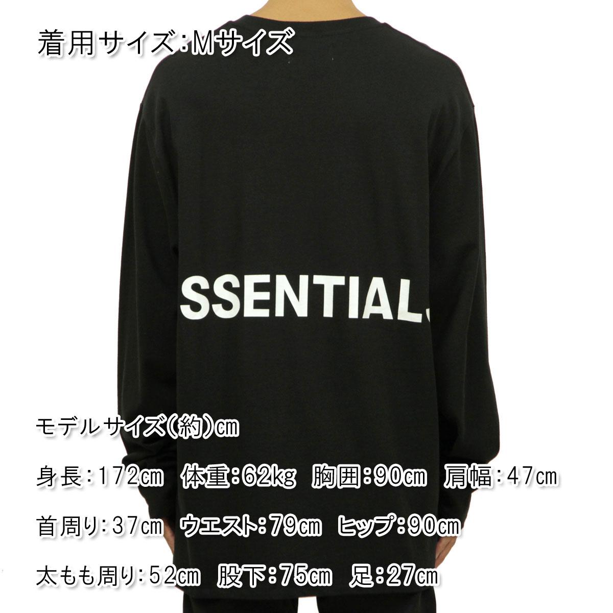 フィアオブゴッド ロンT メンズ 正規品 FEAR OF GOD 長袖Tシャツ FOG - FEAR OF GOD ESSENTIALS BOXY GRAPHIC LONG SLEEVE T-SHIRT BLACK