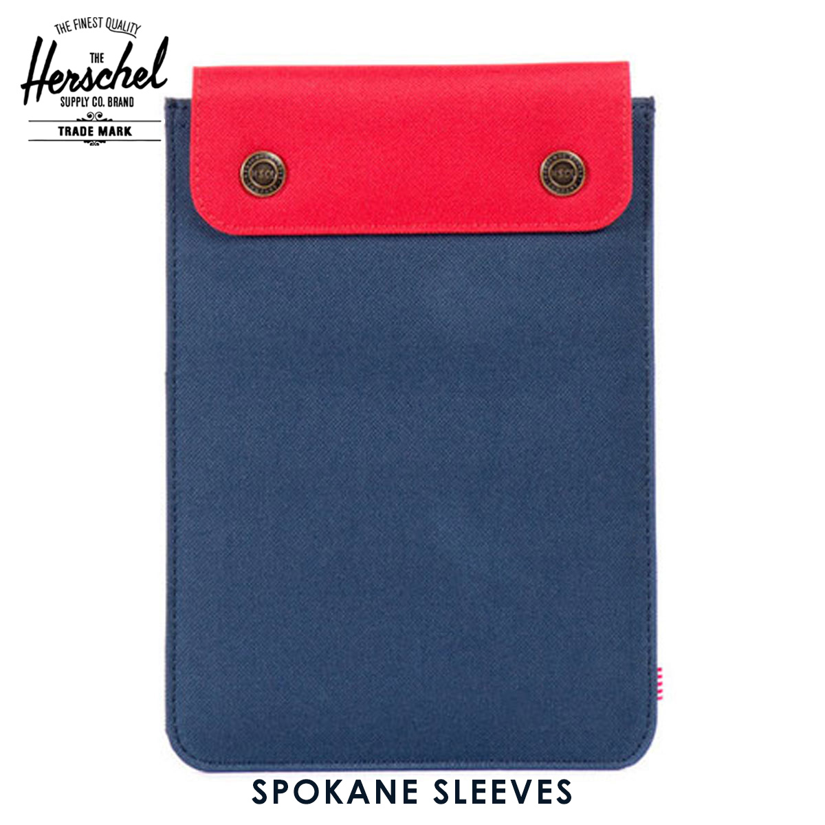 ハーシェル タブレットケース 正規販売店 Herschel Supply ハーシェルサプライ iPad Mini ケース Spokane Sleeve for iPad Mini Sleeves 10191-00018-OS Navy/Red A52B B3C C3D D0E E06F