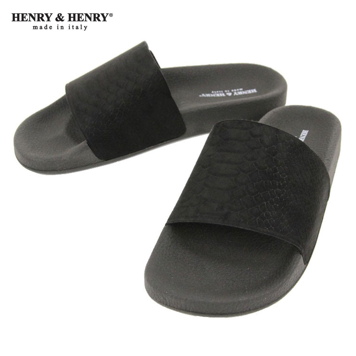 ヘンリーアンドヘンリー HENRY&HENRY 正規販売店 サンダル 180 CROTALO SHOWER SANDAL CROTALO NERO  A66B B3C C4D D3E E13F