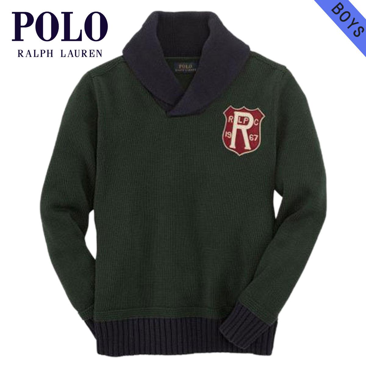 ポロ ラルフローレン キッズ セーター ボーイズ 子供服 正規品 POLO RALPH LAUREN CHILDREN  Cotton Pullover Shawl Sweater 43535356