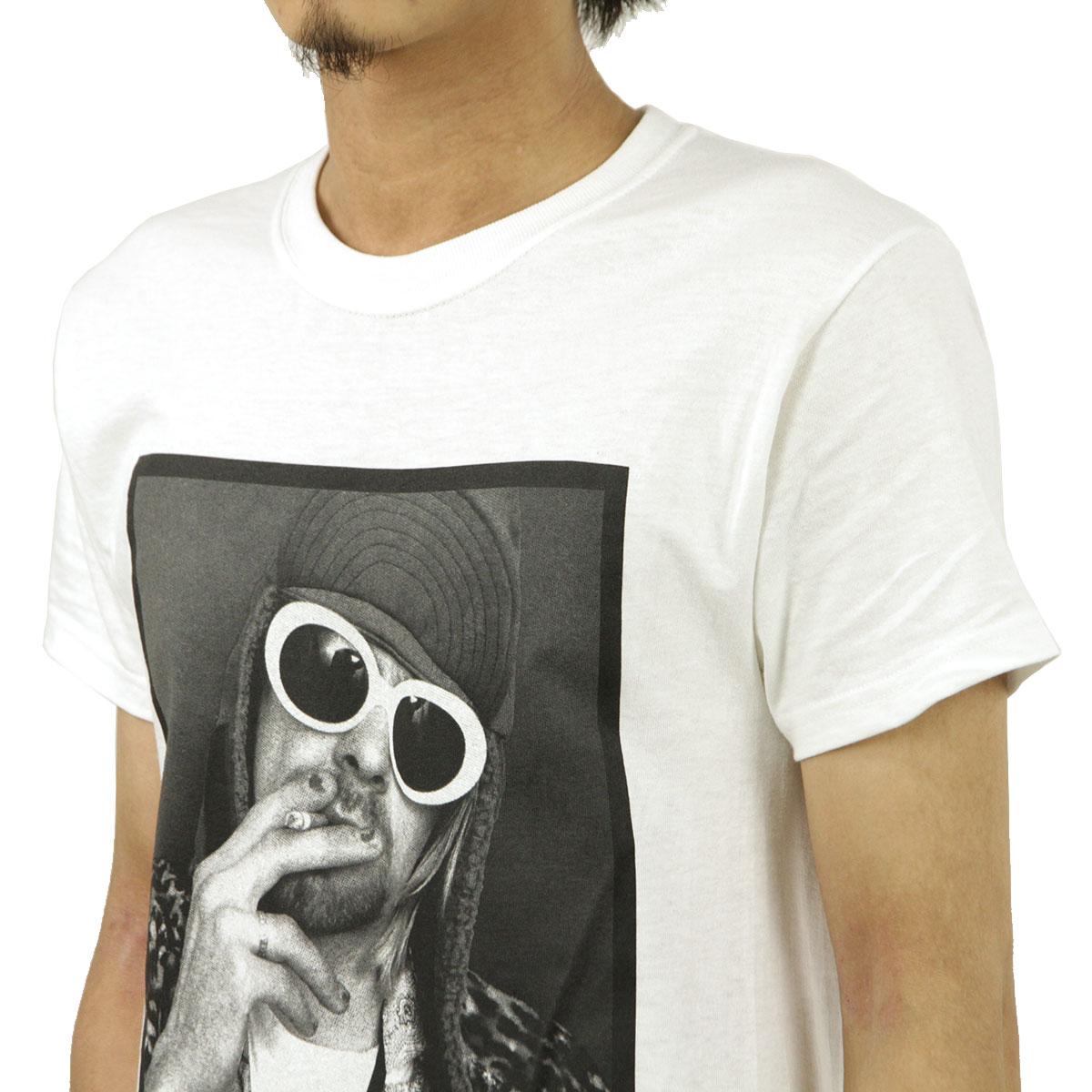 ミュージックティ バンドTシャツ メンズ 正規品 MUSIC TEE フォトT ロックTシャツ 半袖Tシャツ カート・コバーン KURT COBAIN SMOKING BOX PHOTO MUSIC TEE AB5B B1C C1D D1E E01F