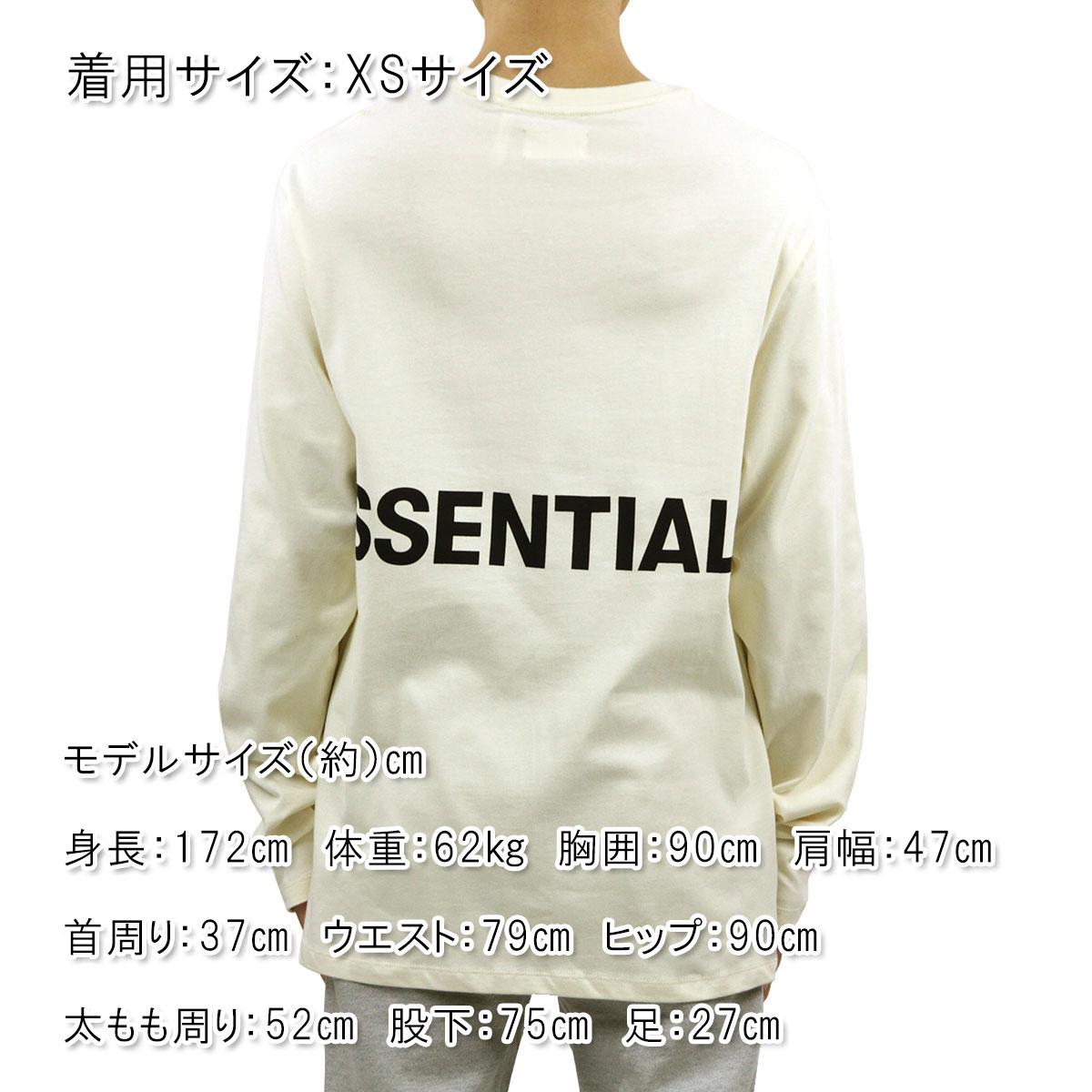 フィアオブゴッド ロンT メンズ 正規品 FEAR OF GOD 長袖Tシャツ FOG - FEAR OF GOD ESSENTIALS BOXY GRAPHIC LONG SLEEVE T-SHIRT CREAM