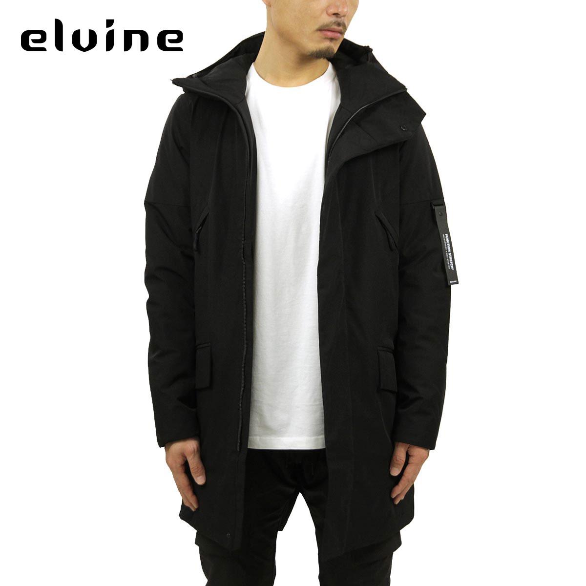 エルバイン アウター メンズ 正規販売店 elvine ジャケット ナイロンジャケット ZANE NYLON LONG JACKET 193006 110 BLACK A91B B1C C1D D4E E13F