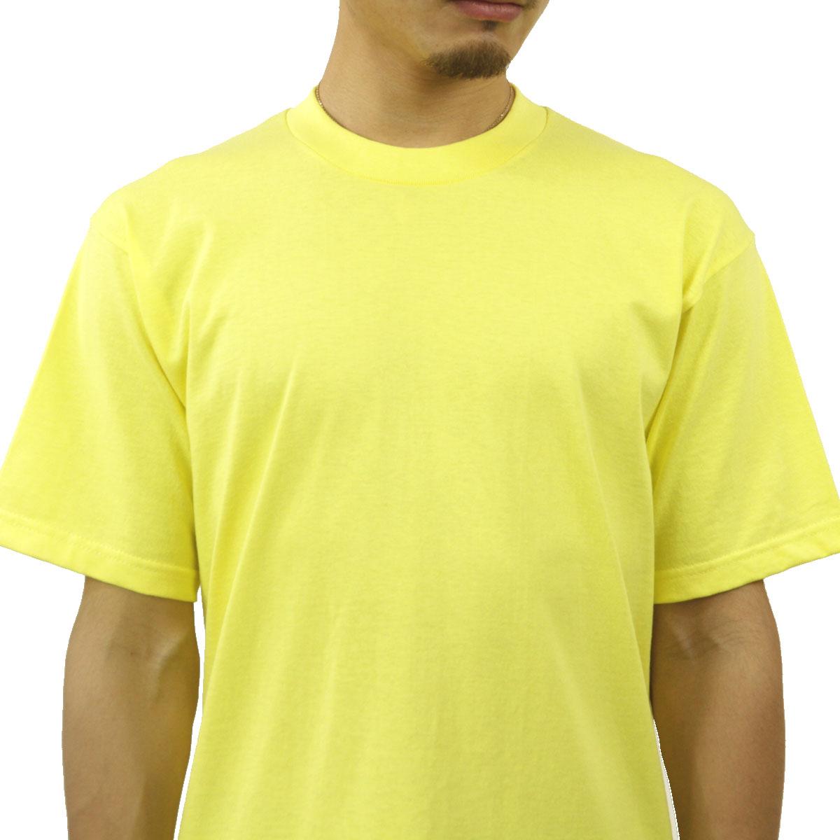プロクラブ Tシャツ メンズ 正規販売店 PROCLUB 半袖Tシャツ クルーネックTシャツ HEAVY WEIGHT COTTON SHORT SLEEVE CREW NECK T-SHIRT YELLOW #101 AB6B B1C C1D D1E E12F