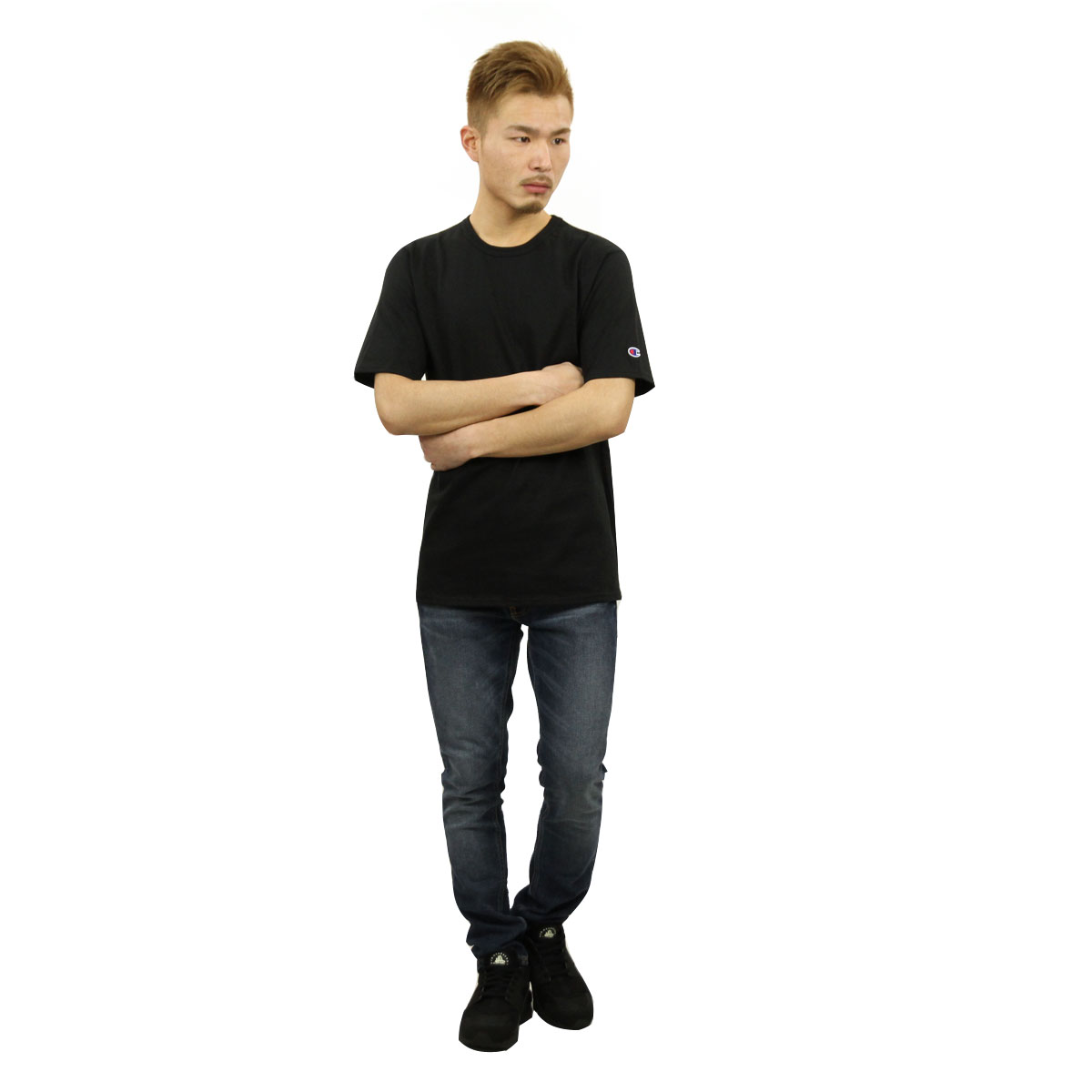 チャンピオン Tシャツ 正規品 CHAMPION 半袖Tシャツ  CREW TEE GT19 70z HERITAGE TEE BLACK AA4B B1C C1D D1E E13F