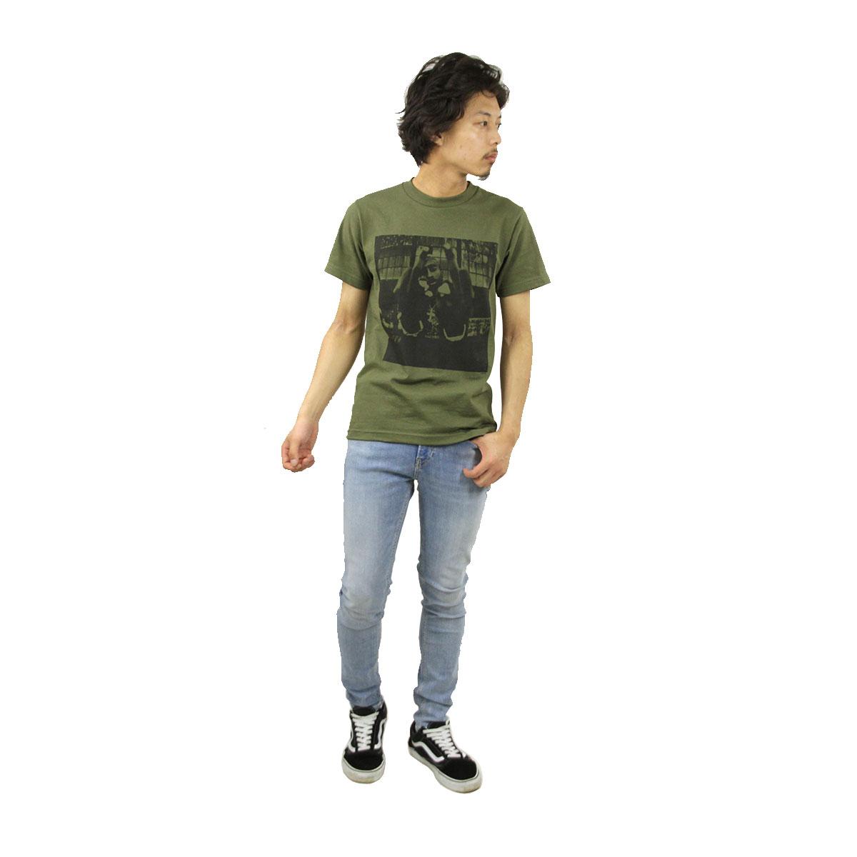 ミュージックティ バンドTシャツ メンズ 正規品 MUSIC TEE フォトT ロックTシャツ 半袖Tシャツ トゥーパック 2パック 2PAC BOLD ARMY MUSIC TEE AB5B B1C C1D D1E E08F