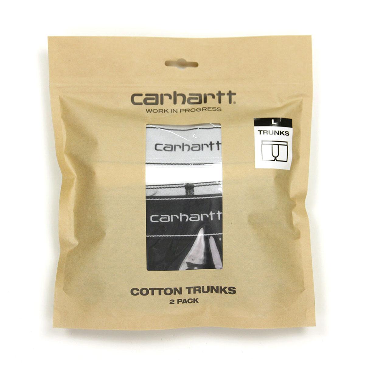 カーハート ボクサーパンツ メンズ 正規販売店 CARHARTT WIP アンダーウェア 下着 ボクサーパンツ2枚組 COTTON TRUNKS 2 PACK BLACK + WHITE I029375 89 AB0B B1C C7D D2E E13F