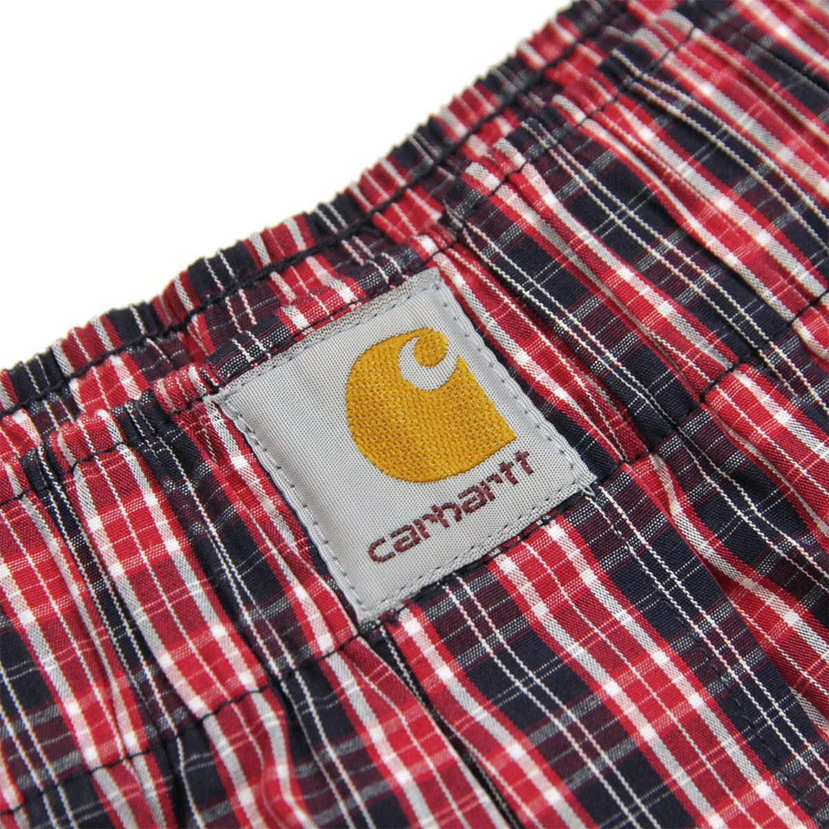 カーハート トランクス メンズ 正規販売店 CARHARTT WIP アンダーウェア 下着 トランクス COTTON BOXERS JAMES CHECK, ETNA RED I029372 08R AB0B B1C C7D D2E E11F