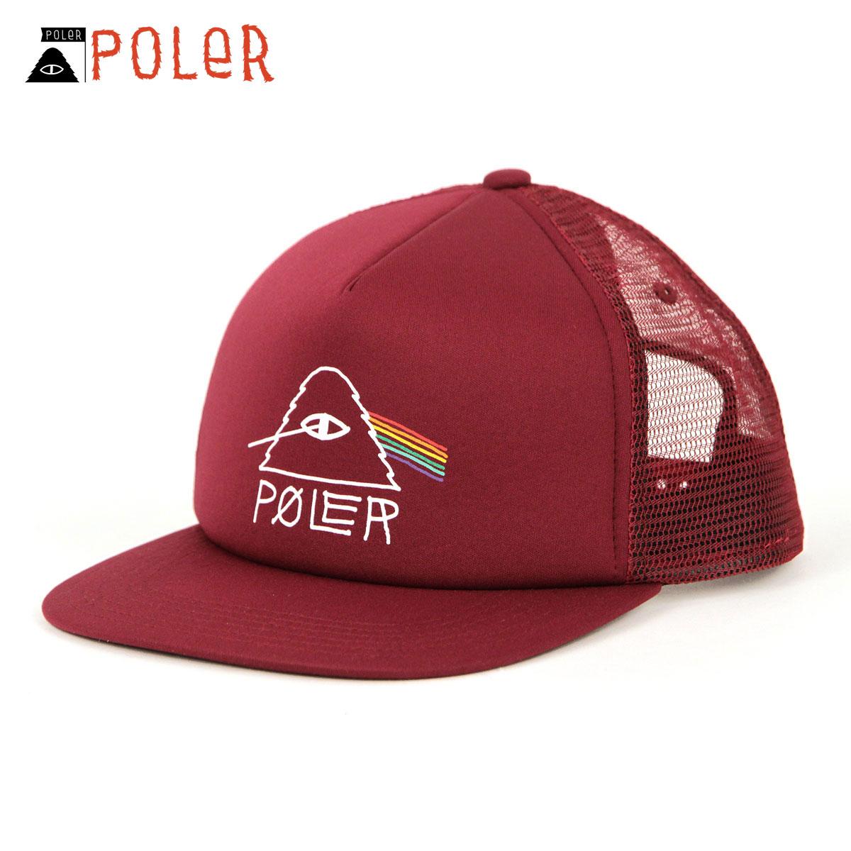ポーラー キャップ メンズ レディース 正規販売店 POLER 帽子 メッシュキャップ PSYCHEDELIC MESH TRUCKER CAP 55100004-WIN WINE A79B B3C C3D D4E E11F
