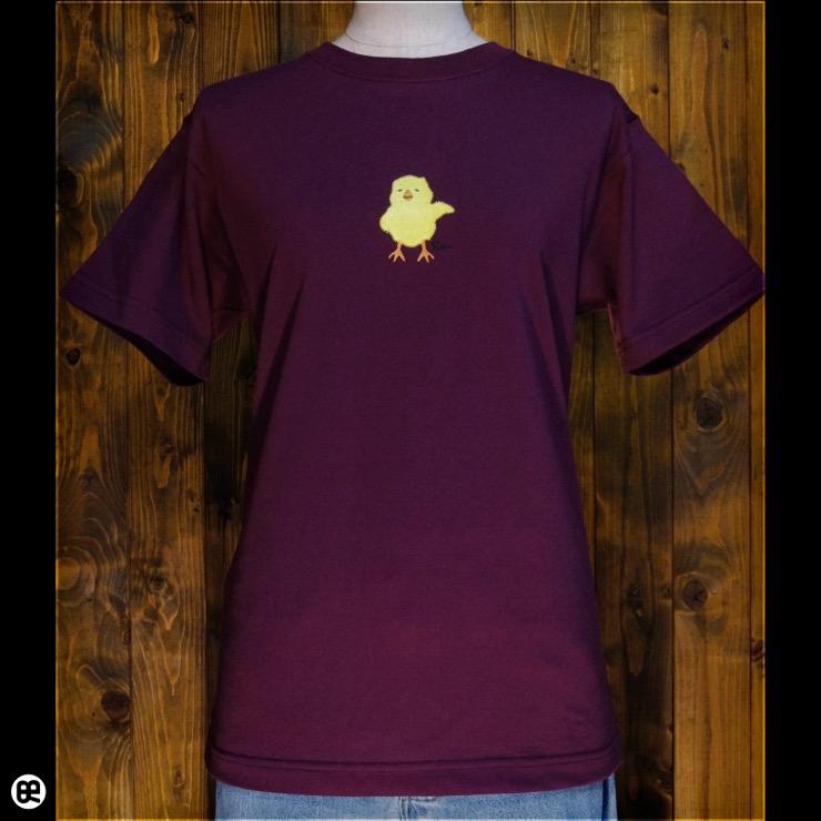 ひよこ:バーガンディ:Tシャツ