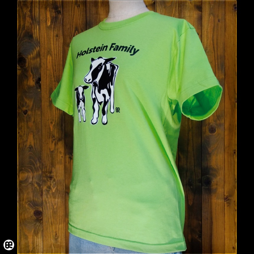牛親子:ライム:Tシャツ