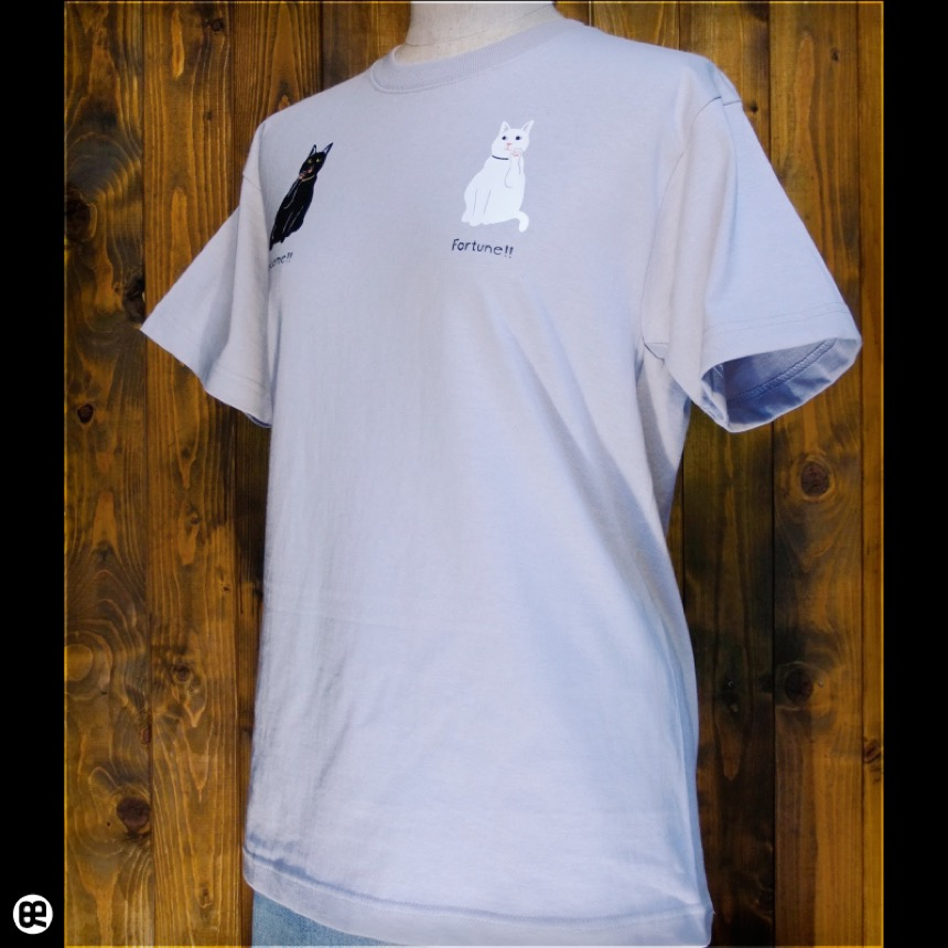コマネキ:シルバーグレー:Tシャツ