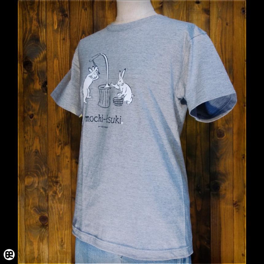mochi-tsuki:ヘザーグレー:Tシャツ