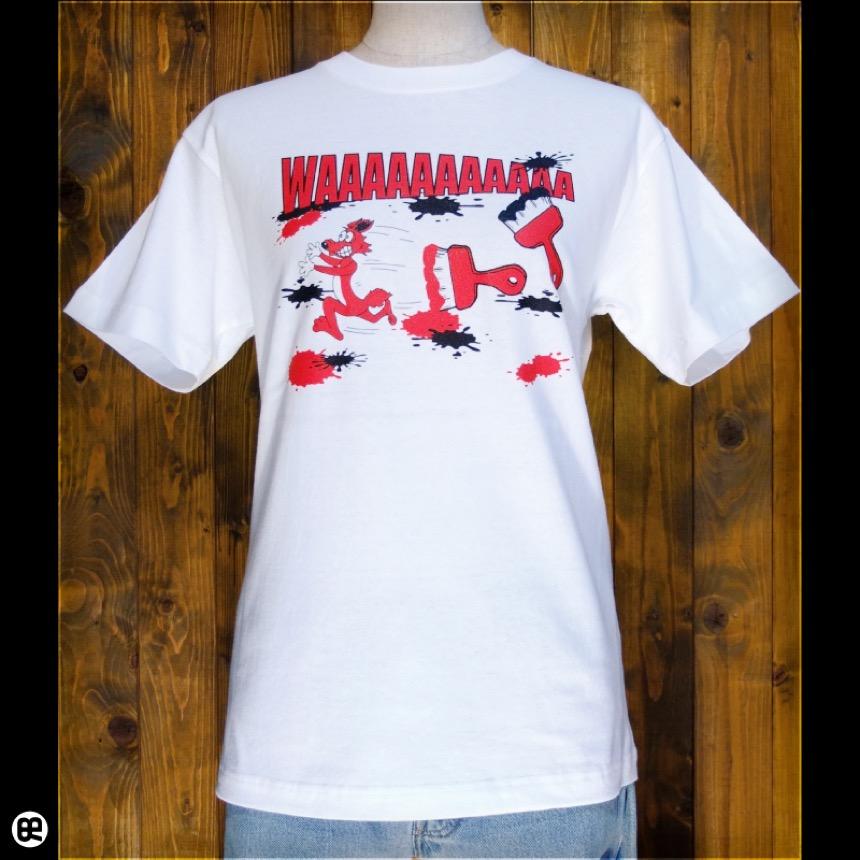 WAAAA:ホワイト:Tシャツ