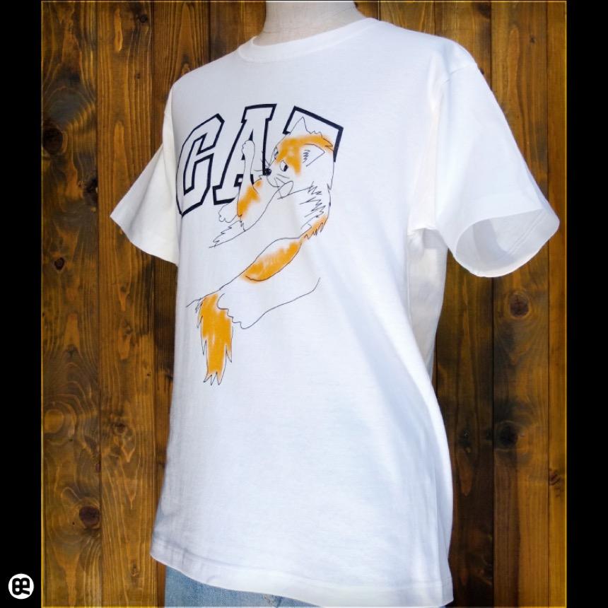 CAT:ナチュラル:Tシャツ