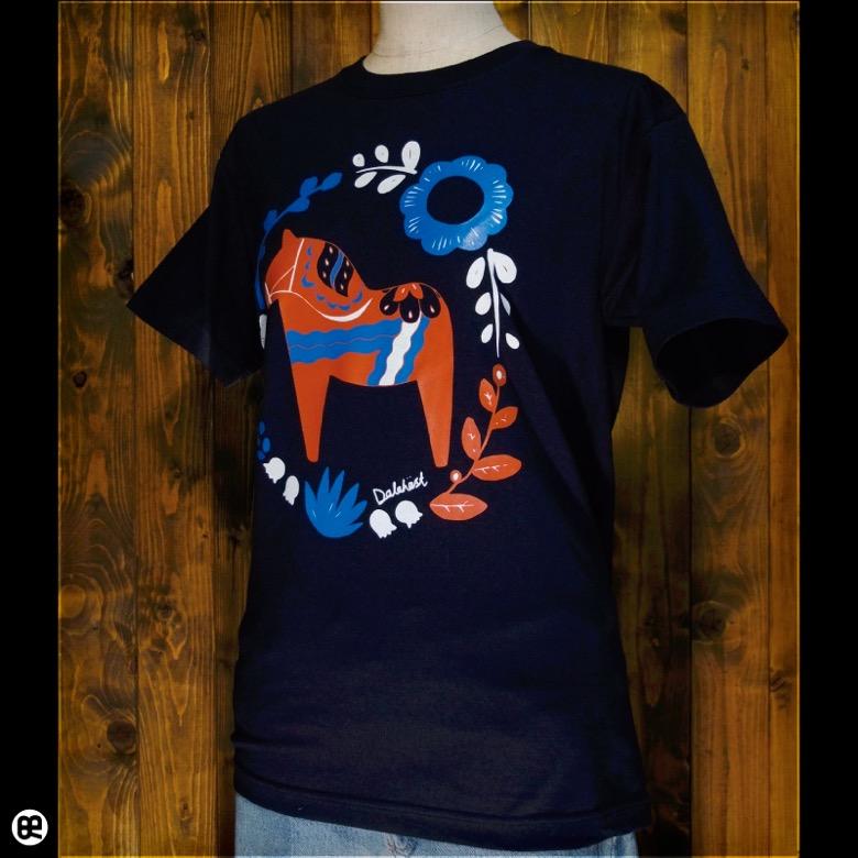 ダーラナホース : ネイビー:Tシャツ