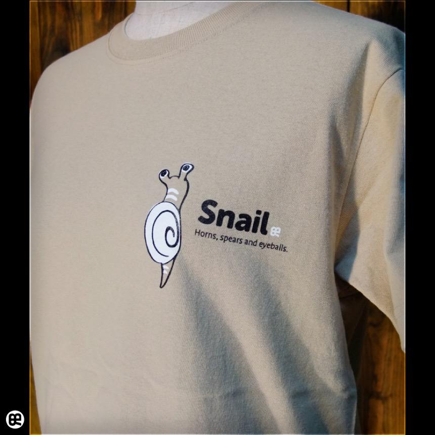 カタツムリ:サンド:Tシャツ
