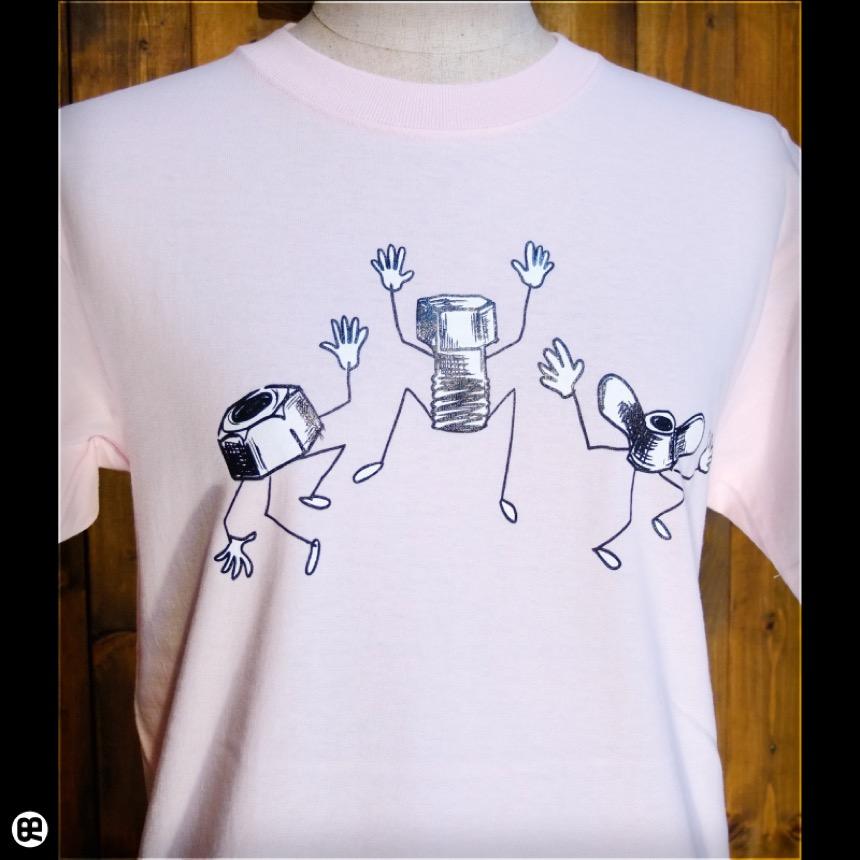ボルト&ナット:フロストピンク:Tシャツ