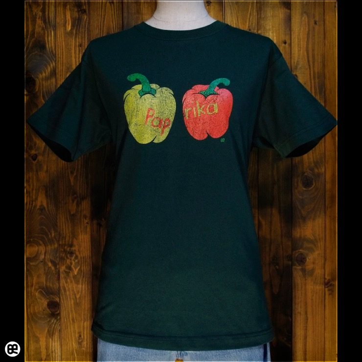 パプリカ:フォレストグリーン:Tシャツ