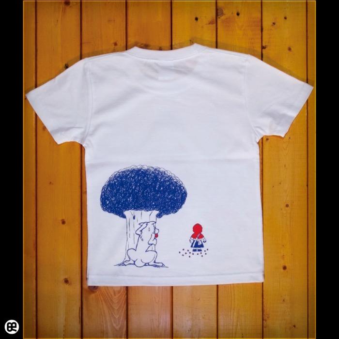 キッズTシャツ:Akazukin : ホワイト:5.6オンス
