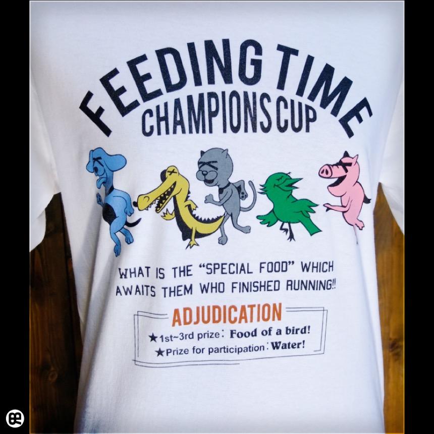 FeedingTime:ホワイト:Tシャツ