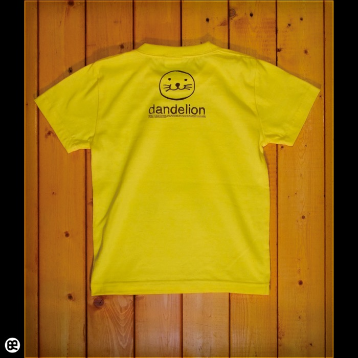 キッズTシャツ:ダンデライオン : イエロー:5.6オンス