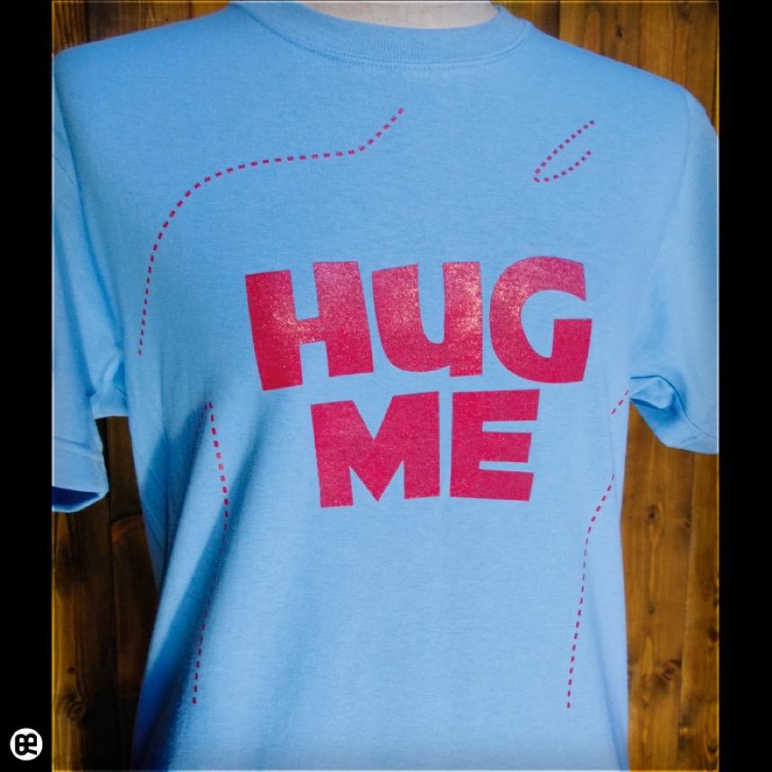 HUGME:エアーブルー:Tシャツ