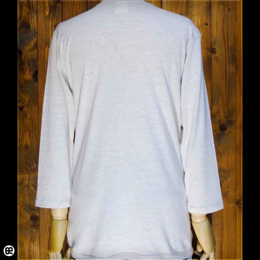 7分袖Tシャツ:フレンチブル:オートミール