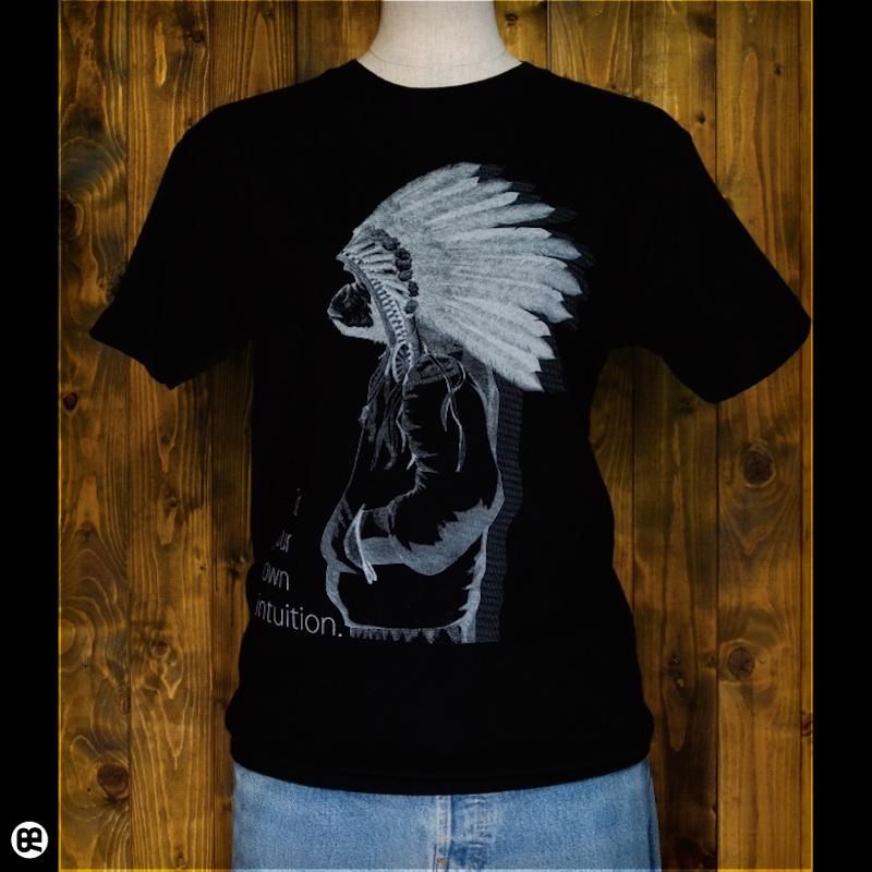 Native Gorilla : ディープブラック:Tシャツ