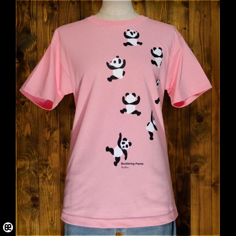 のぼるパンダ : ピンク:Tシャツ
