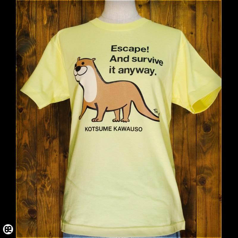 コツメカワウソ2 : レモンイエロー:Tシャツ