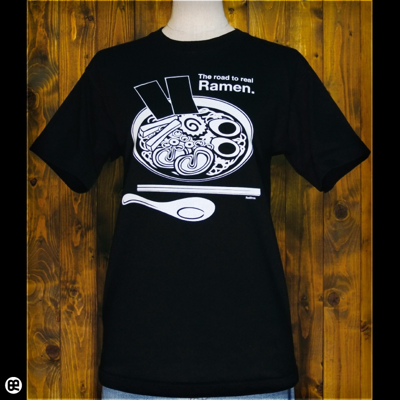 Ramen : ディープブラック:Tシャツ