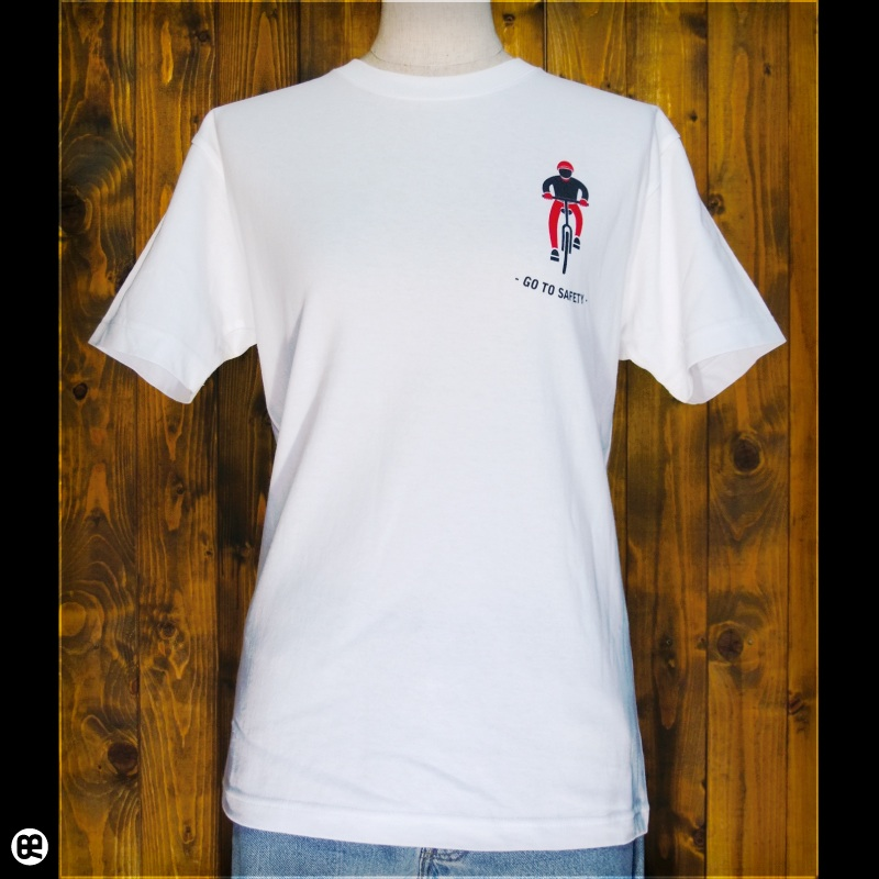 GO TO SAFETY : ホワイト:Tシャツ