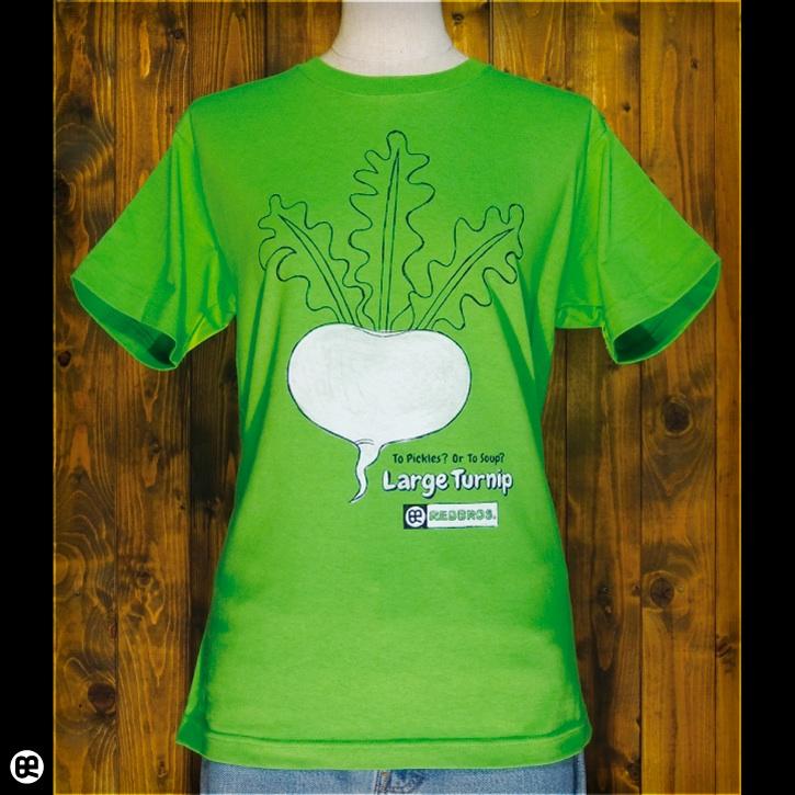 大きなカブ : グリーン:Tシャツ
