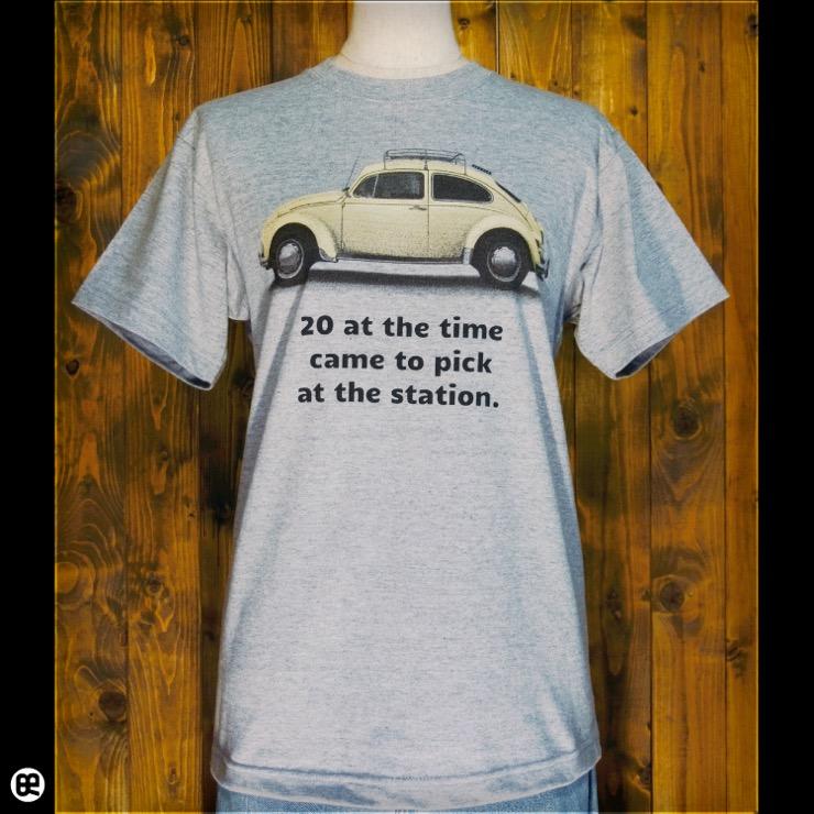 カブトムシ : ヘザーグレー:Tシャツ