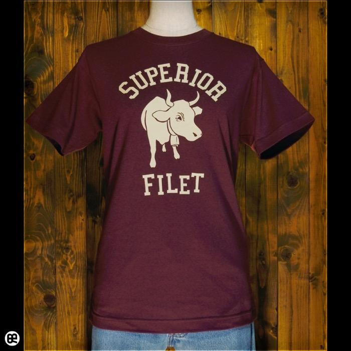 cow : バーガンディ:Tシャツ