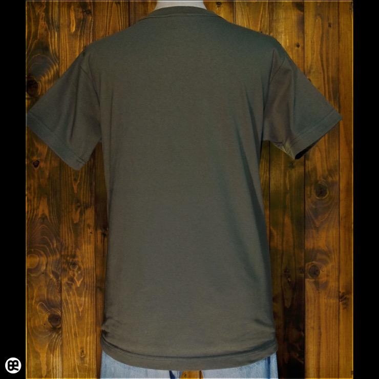 ヘリンボーン : アーミーグリーン:Tシャツ