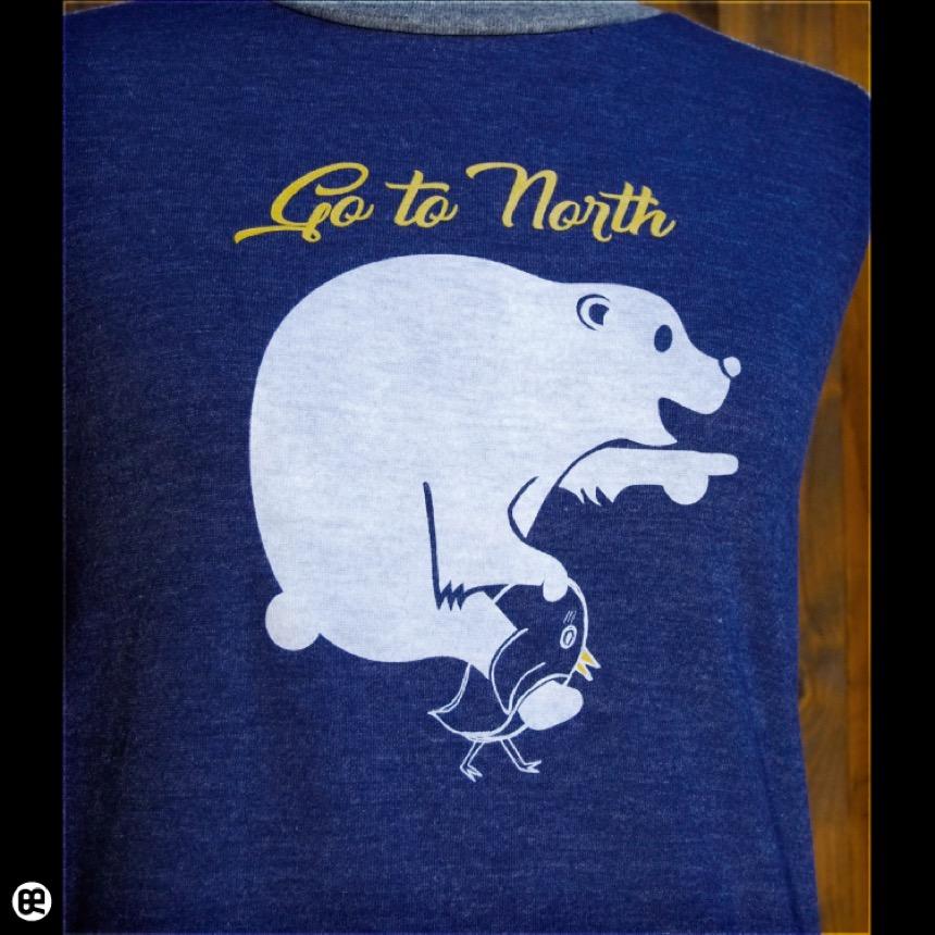 ラグラン7分袖T:Go to North:HDN×HGY