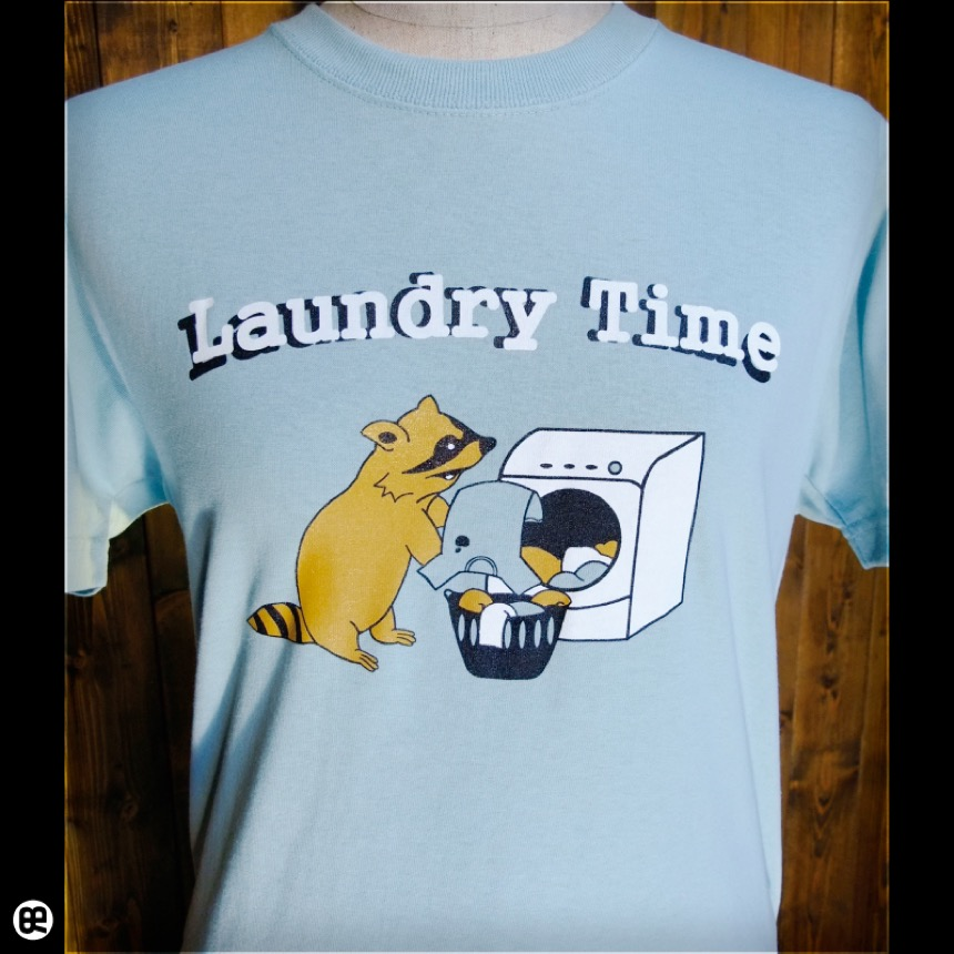 Laundry Time:フロストスカイ:Tシャツ