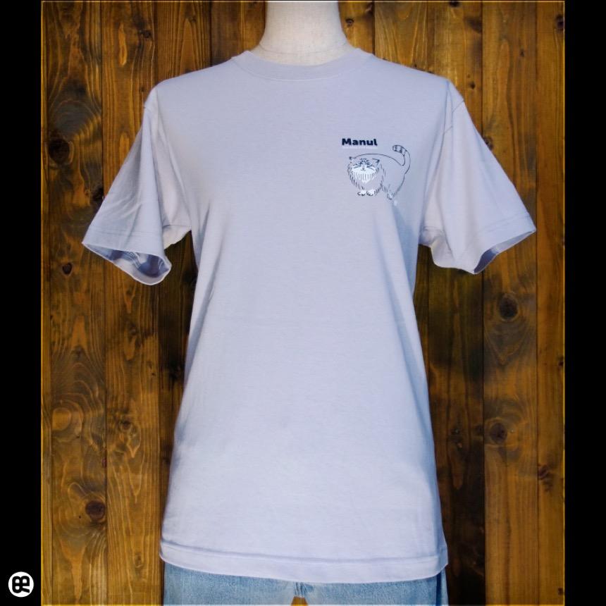 マヌルネコ:シルバーグレー:Tシャツ