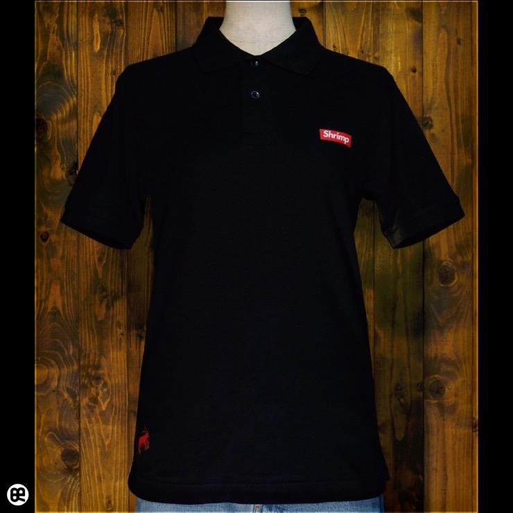 ポロシャツ:Shrimp polo : ブラック