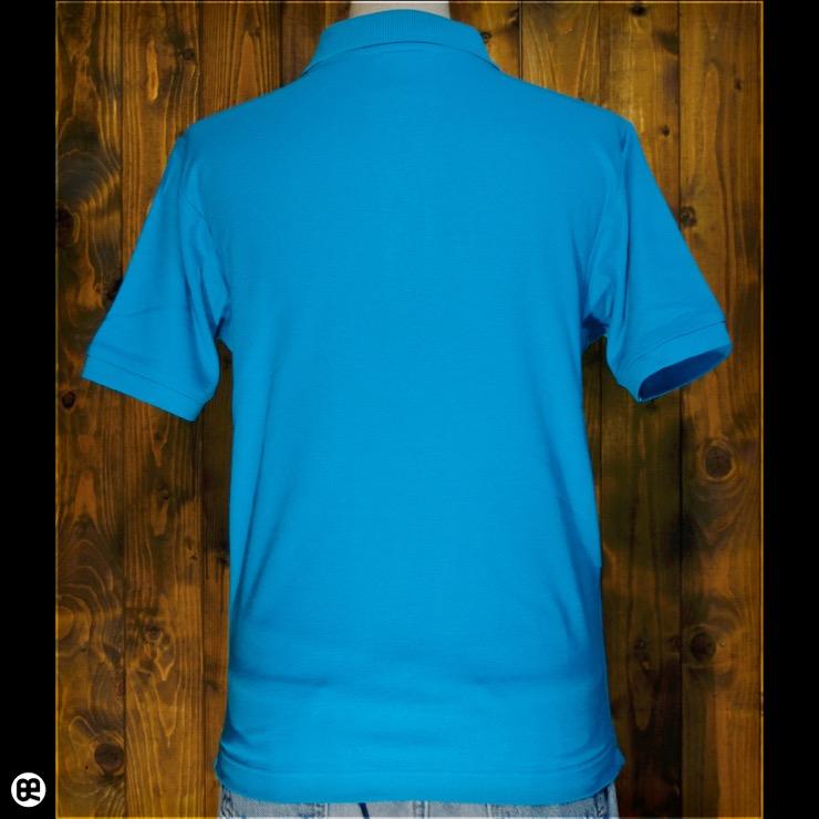 ポロシャツ:チェック de チャック(TB) : ターコイズ