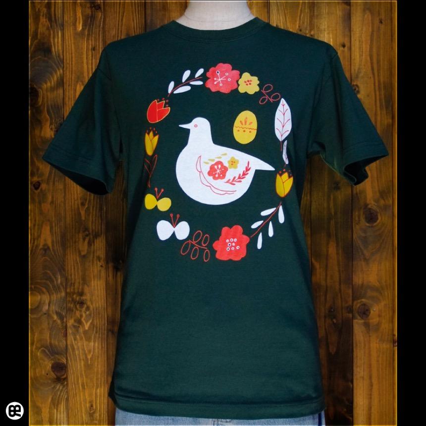 くるっくー:フォレストグリーン:Tシャツ