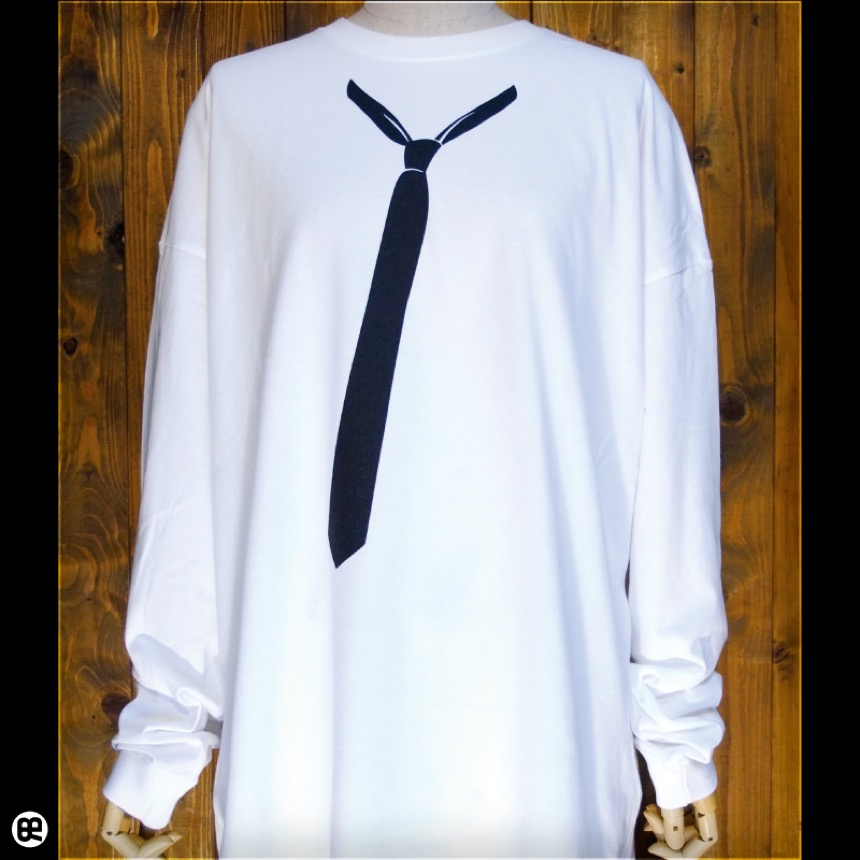 ビッグシルエットロンT:Loose Tie:ホワイト