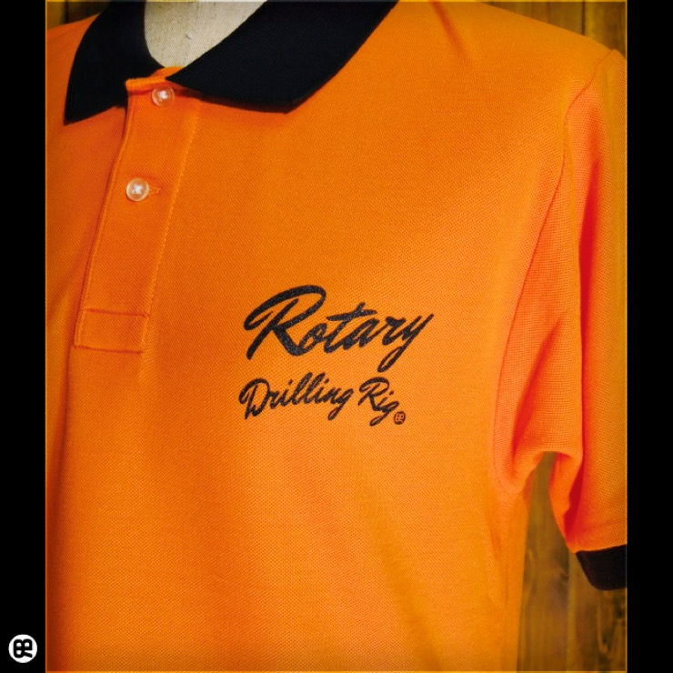 ポロシャツ:Boring Shirts : オレンジ/ブラック