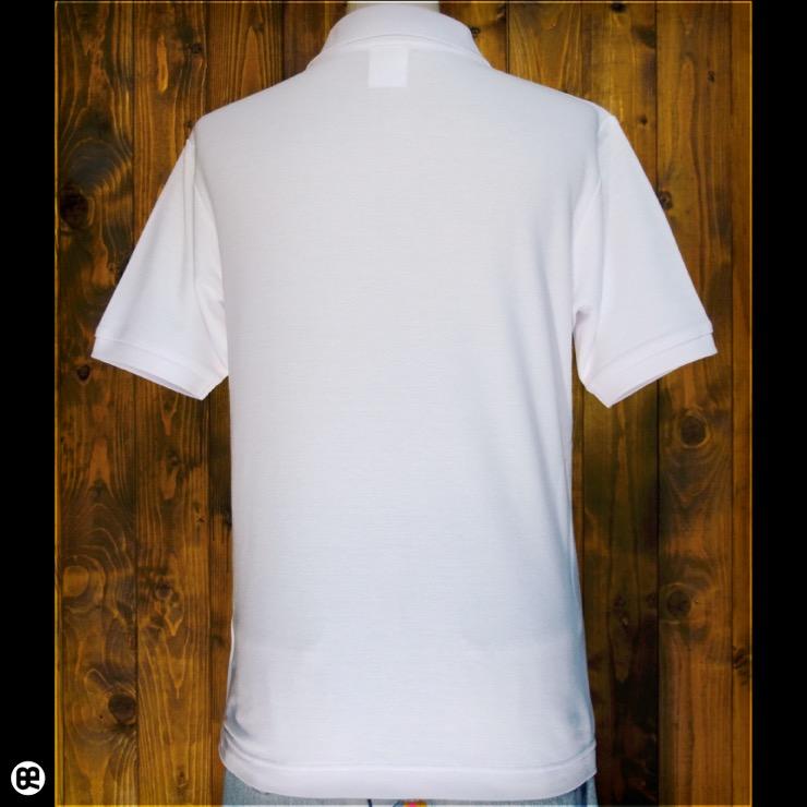 ポロシャツ:glasses : ホワイト