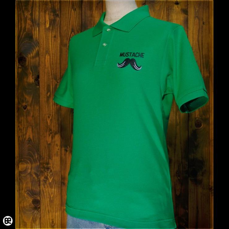 ポロシャツ:MUSTACHE : ブライトグリーン